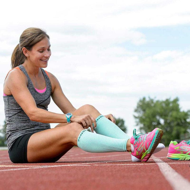 Correre con le calze a compressione graduata